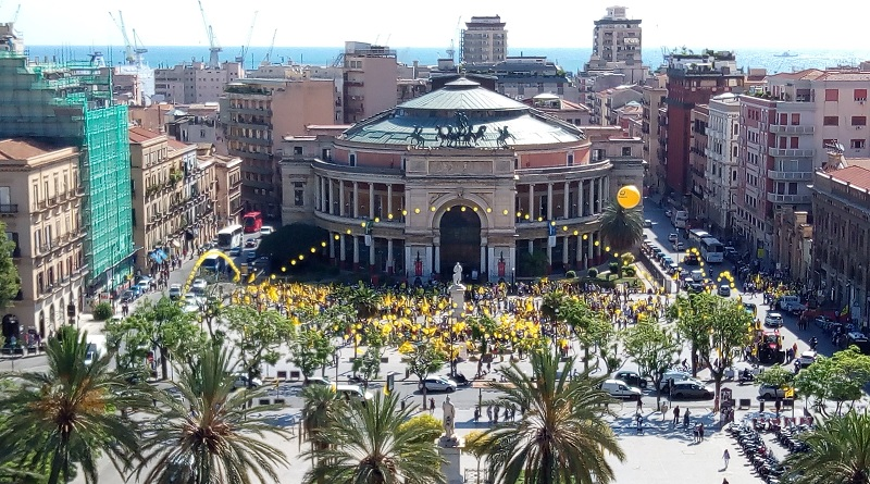 Palermo, manifestanti Coldiretti in piazza contro la crisi agricola in Sicilia