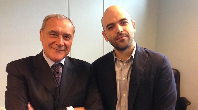 """Il leader di Liberi e Uguali sulla polemica tra il ministro dell'Interno e l'autore di Gomorra: """"Dobbiamo scegliere da che parte stare, se con Saviano o con Salvini"""""""