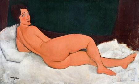 """""""Nu couche (sur le cote gauche)"""" di Amedeo Modigliani"""