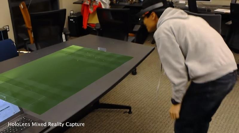 Partite di calcio trasformate in ologrammi 3D sul tavolo