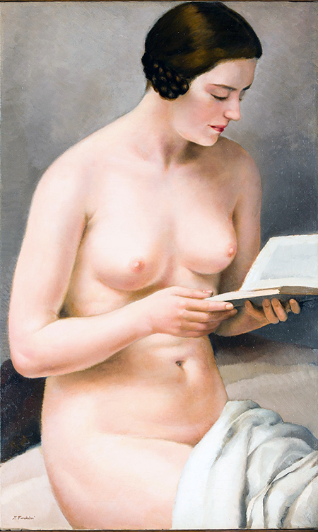 Trombadori, Fanciulla nuda che legge