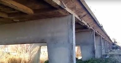 Ponte su fiume Eleuterio nella Ficarazzi-Aspra