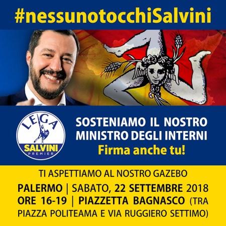Nessuno tocchi Salvini
