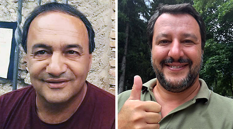 Mimmo Lucano e Matteo Salvini