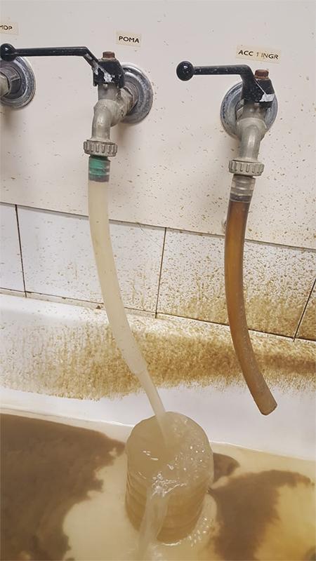 Acqua torbida da potabilizzare