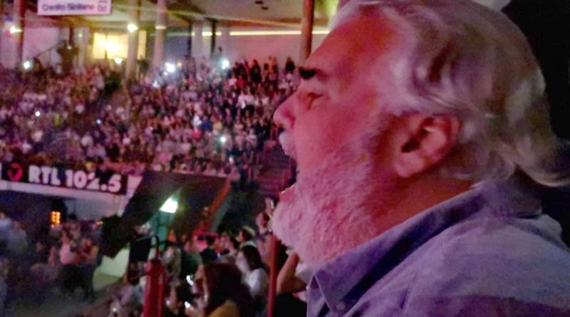 Basilio Milatos al concerto di Claudio Baglioni