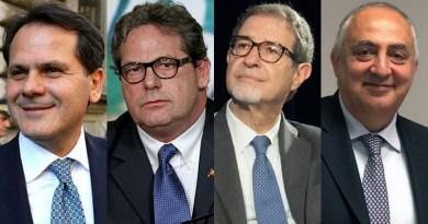 Saverio Romano, Gianfranco Miccichè, Nello Musumeci, Roberto Lagalla