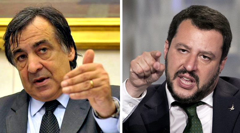 Leoluca Orlando e Matteo Salvini