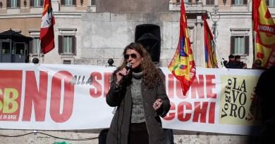 """La """"regionalizzazione-secessione dei ricchi"""" contestata dall'USB. Manifestazione a Montecitorio contro il sistema scolastico regionale discriminativo"""