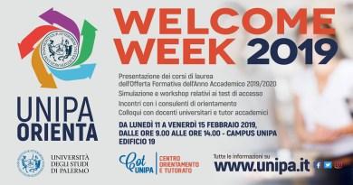 Welcome Week unipa 2019