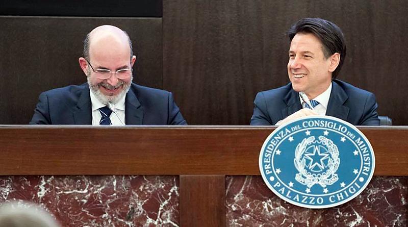 Vito Crimi e Giuseppe Conti