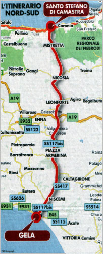 SS 117 Centrale Sicula, Nord-Sud