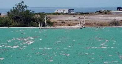 Il campo di calcio dell'isola di Linosa, Comune di Lampedusa