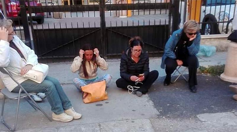 sit-in-Usb-davanti assessorato al lavoro palermo