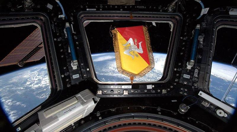 Gagliardetto Regione Sicilia stazione spaziale internazionale