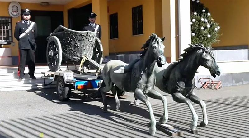 Carabinieri ritrovano biga Morgantina