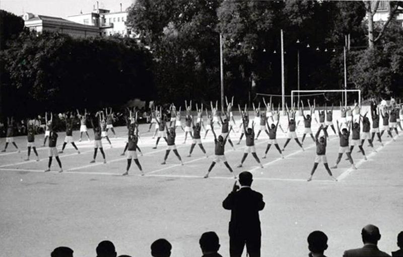 Gonzaga, ginnastica all'aperto
