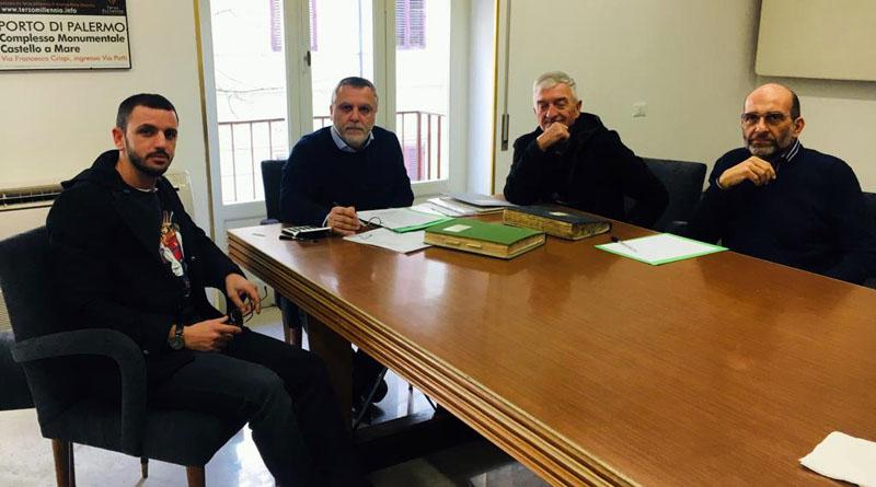 Direttivo Anec Palermo, presidente Andrea Peria. Da sinistra, Matteo Boscarino, Andrea Peria, Salvatore Cordaro ed Ettore Balistreri