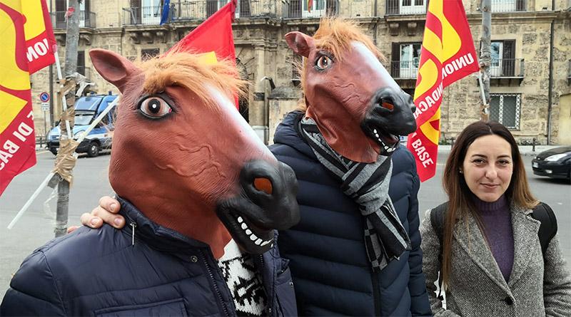 protesta Testa di Cavallo contro Musumeci