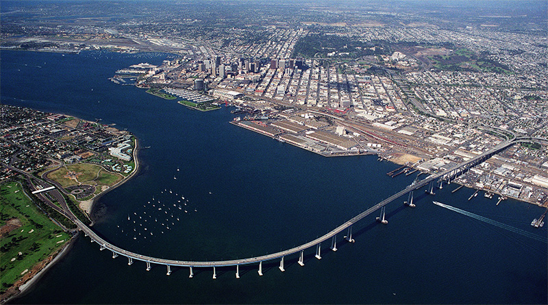 Coronado Bridge, San Diego, California, Usa