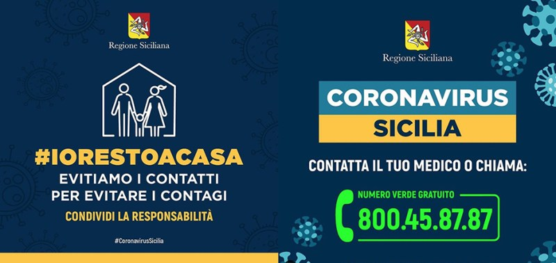 #restoacasa coronavirus sicilia