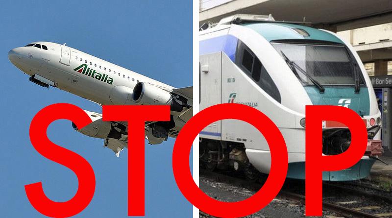 stop aerei treni