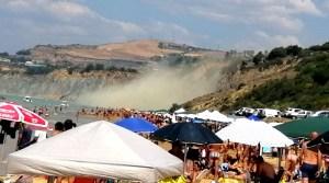 frana costone spiaggia Maddalusa, Agrigento