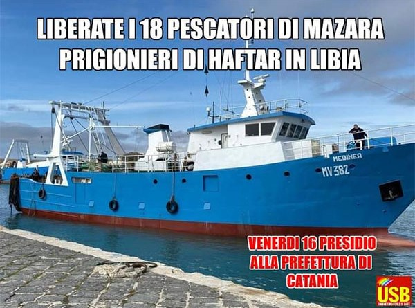 pescatori sequestrati in libia
