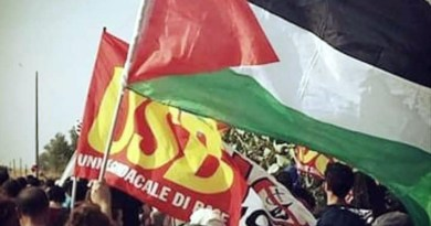 USB Catania alla manifestazione di sostegno al popolo della Palestina domenica 16 maggio