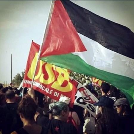 Usb manifestazione Palestina