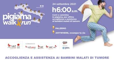 """""""Pigiama Walk&Run"""": corri o cammina il 24 settembre per aiutare insieme alla LILT i bambini malati di tumore"""