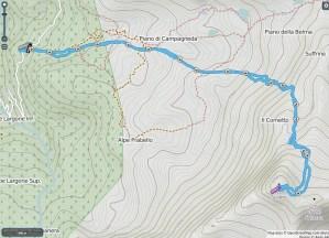 Mappa pizzo Scalino