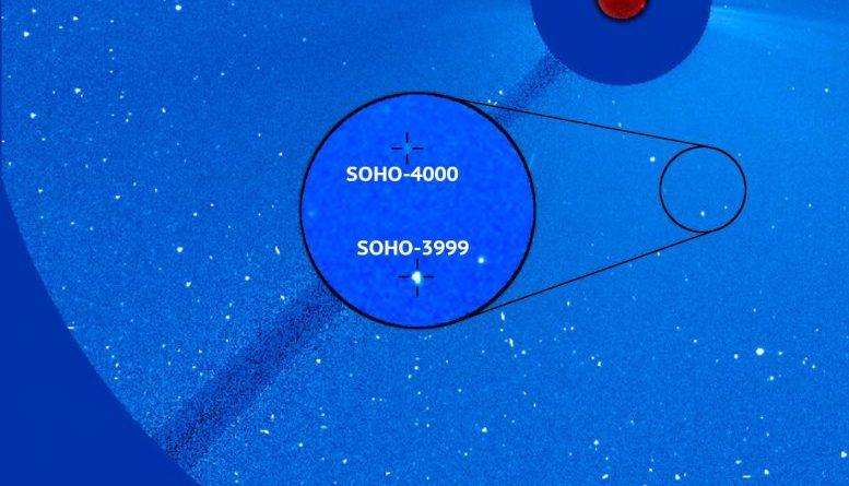 La cometa SOHO-4000