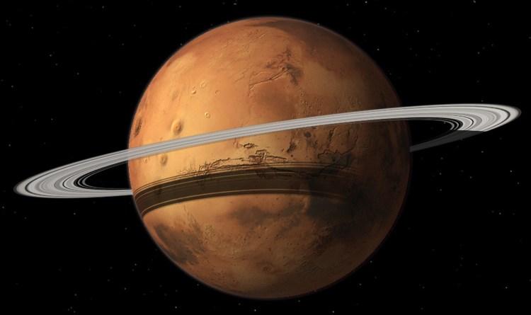 Marte circondato da anelli