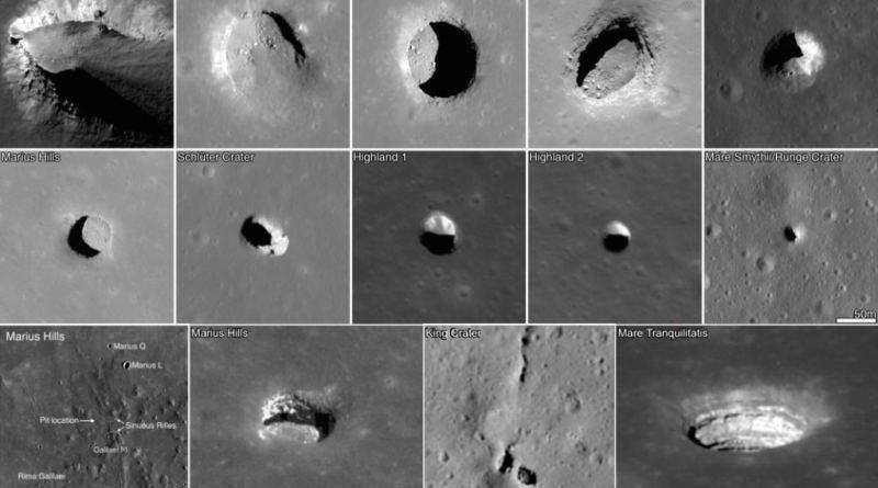 Tubi di lava sulla Luna