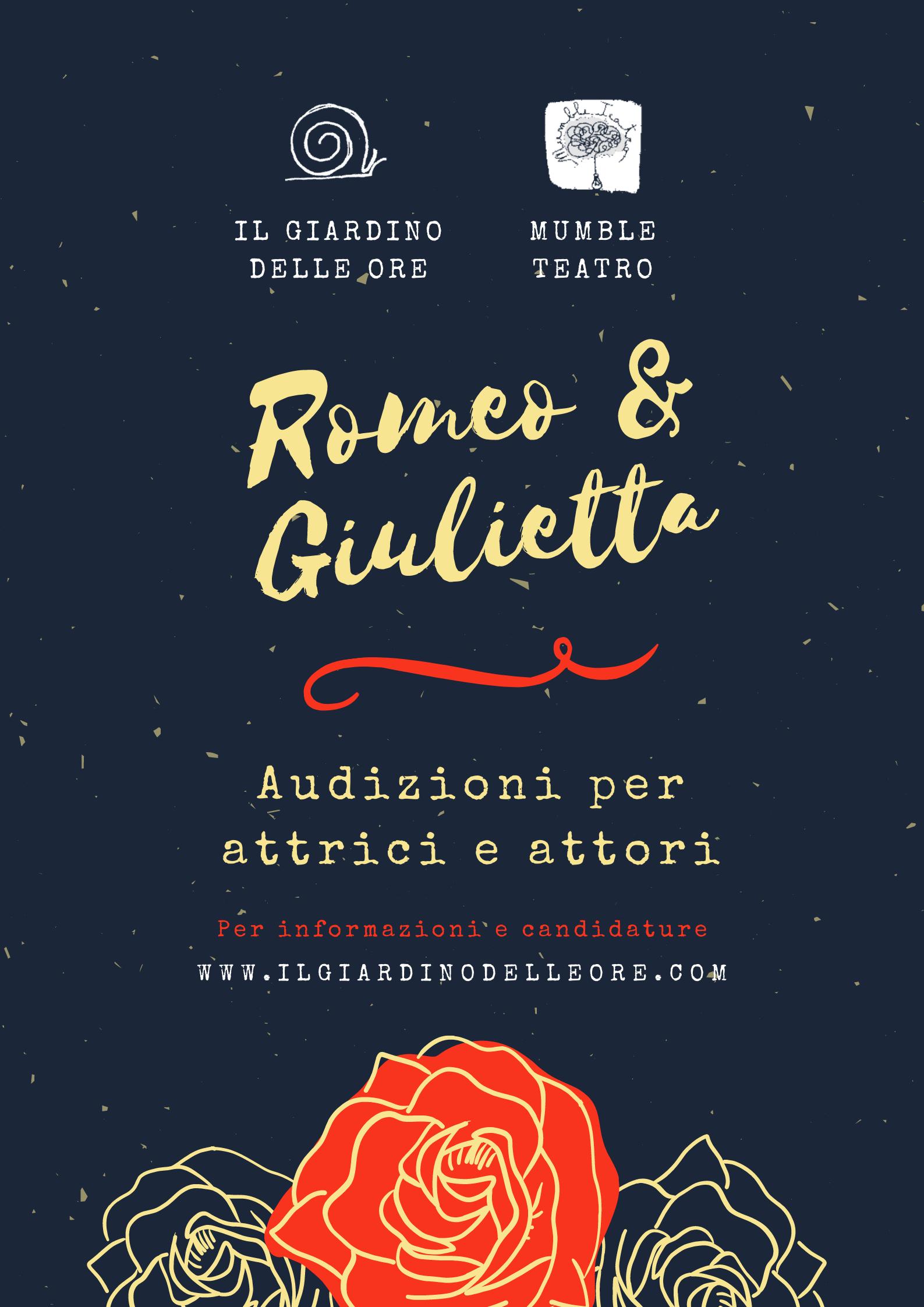 Aperte le audizioni per Romeo e Giulietta