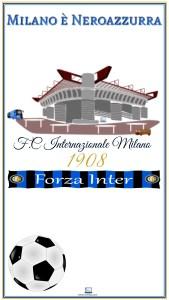 Sfondo Smartphone Milano è Neroazzurra 2160×3840px