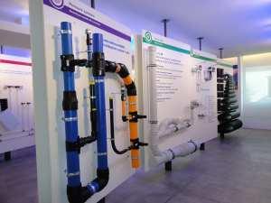 Una veduta della sala tecnica del Solutions Center Wavin