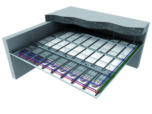 La configurazione del sistema radiante a soffitto Chemidro CD4