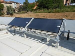 I COLLETTORI solari termici installati in copertura.