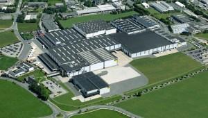 Veduta aerea dello stabilimento Viega di Ennest (Germania).