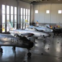 Alcuni esemplari esposti al Museo Storico dell'Aeronautica Militare di Vigna di Valle sul Lago di Bracciano.