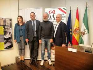 N.Losada(ayto Malaga),M.Memoli(Console),N.Labate(vice),A.Gómez(directorfestival)