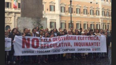 Photo of Montecitorio, ecco la protesta contro la geotermia