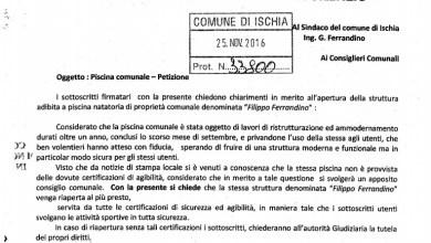 Photo of «Vogliamo una piscina sicura», consegnata la petizione al Comune di Ischia