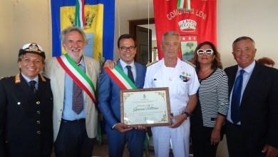 Photo of L'Ammiraglio Giovanni Pettorino cittadino onorario di Leni nel segno di Ischia