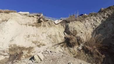 Photo of Ancora una frana a Cava dell'isola, il costone cade a pezzi
