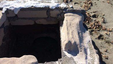 Photo of LA FOTONOTIZIA Citara, dall'arenile spunta un pozzetto in muratura