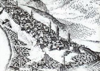 Hallart'ın 1686'da Budin'i gösteren bir gravürü (József Molnár, Macaristan'daki Türk Anıtları, Ankara 1973, lv. 1)