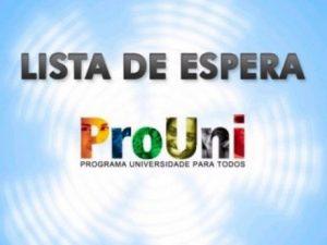 lista de espera do ProUni